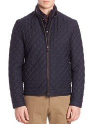 Luciano Barbera Quilted Jacket Navy