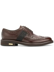 Versace Lace Up Brogues Men Calf Leather Leather Rubber 42 Brown