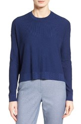 Nordstrom Women's Collection Ribbed Merino Wool High Low Pullover