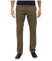 Dockers Washed Khaki Slim Tapered Olive Men's Casual Pants