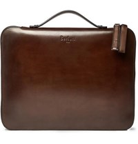 Berluti Nino Leather Briefcase Brown