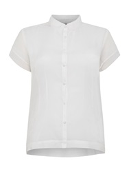 Noa Noa Short Sleeve Blouse White