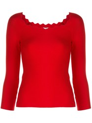 Milly Scalloped Neck Jumper 60