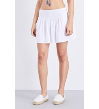 Seafolly Shirred Woven Skort White