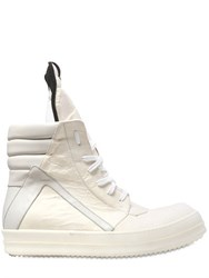 Rick Owens Geo Basket Pergamena Effect Leather