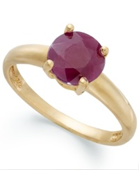 Victoria Townsend 18K Gold Over Sterling Silver Ring Ruby July Birthstone Ring 1 5 8 Ct. T.W.