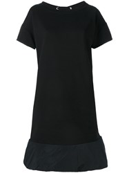 Moncler Flared Hem T Shirt Dress Black