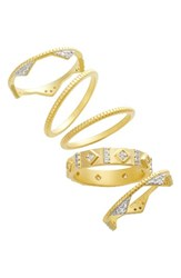 Freida Rothman Women's Visionary Fusion Set Of 5 Stack Rings