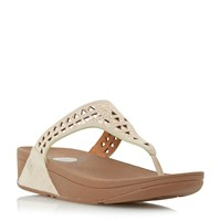 Fitflop Carmel Embellished Wedge Sandals Rose Gold