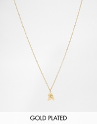 Bill Skinner Gold Plated Bee Pendant Necklace
