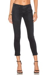 Black Orchid Patch Pocket Skinny Faded Black