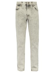 Martine Rose Bleach Washed Straight Leg Jeans Grey