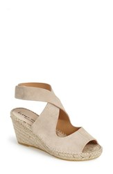 Women's Bettye Muller 'Mobile' Leather Wedge Espadrille Sandal Sand Suede