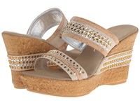 Onex Breeze Cork With Silver Women's Wedge Shoes Gold