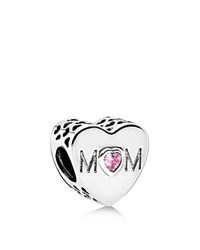 Pandora Design Pandora Charm Sterling Silver And Pink Cubic Zirconia Mother Heart Moments Collection