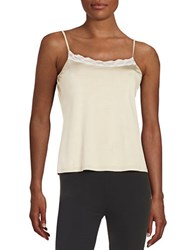 Hanro Lace Trimmed Camisole Gold Grey