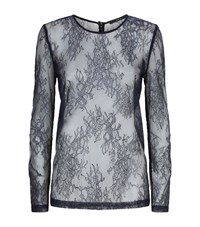 Set Lace Long Sleeved T Shirt Female Black