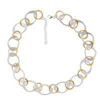 Nina B Open Link Necklace Silver Gold