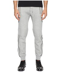 The Kooples Sport Fleece Sweatpants With Zippers Grey