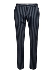 Selected Blue Homme Bold Stripe Suit Trousers