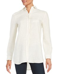 Max Mara Linen Button Down Shirt Beige