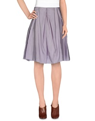 Acne Studios Knee Length Skirts Lilac