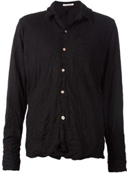 Individual Sentiments Pleated Effect Shirt Black