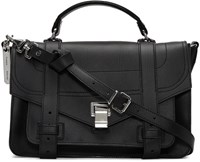 Proenza Schouler Black Medium Ps1and Satchel