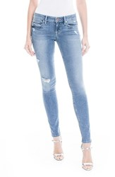 Level 99 Women's Lisa Stretch Distressed Super Skinny Jeans Cruise
