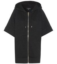 Burberry Cotton And Cashmere Blend Hoodie Black