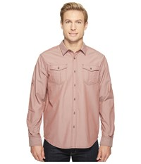 Prana Ascension Raisin Men's Long Sleeve Button Up Brown