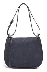 Allsaints Mini Echo Calfskin Suede And Leather Hobo
