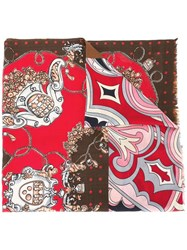 Coach Printed Scarf Red