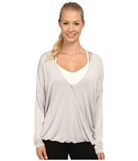 Lole Abella Top Warm Grey Heather Women's Long Sleeve Pullover Gray