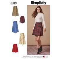 Simplicity Misses Wrap Skirts Sewing Pattern 8746