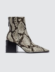 Alexander Wang Parker Roccia Snake Print Emboss Boots Multicolor