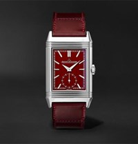 Jaeger Lecoultre Reverso Tribute Small Seconds Hand Wound 27.4Mm Stainless Steel And Leather Watch Burgundy