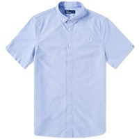 Fred Perry Classic Short Sleeve Oxford Shirt Blue