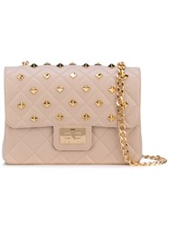 Designinverso Metallic Crossbody Bag Nude And Neutrals