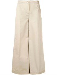 Boutique Moschino Tailored Palazzo Pants Neutrals