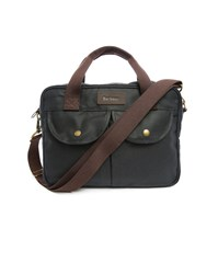 Barbour Navy Longthorp Waxed Bag