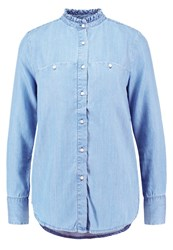 Teddy Smith Colette Blouse Blue Denim