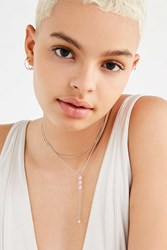 Urban Outfitters Dripping Crystal Lariat Necklace Pink