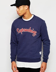 Supreme Being Supremebeing Sweatshirt With Script Logo Navy