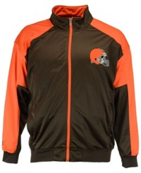 Majestic Men's Cleveland Browns Geo Track Jacket Brown Orange