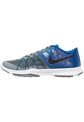 Nike Performance Zoom Train Incredibly Fast Sports Shoes Cool Grey Black Industrial Blue Anthracite
