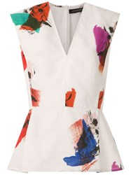 Andrea Marques Abstract Print Pleated Blouse 60