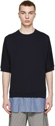 3.1 Phillip Lim Navy Shirt Tail Pullover