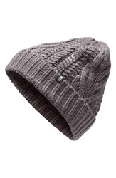 The North Face Minna Cable Knit Beanie Grey Rabbit Grey