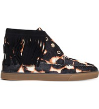 Nine West Ballico Calf Hair Trainers Blk Other